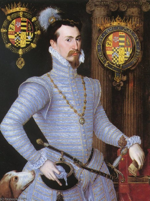 Earl Of Leicester. por Robert Dudley (1826-1909, United Kingdom)