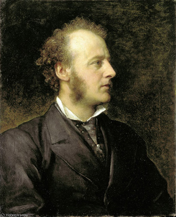 Retrato de SIR JOHN EVERETT MILLAIS, 1871 por Frederick Waters Watts