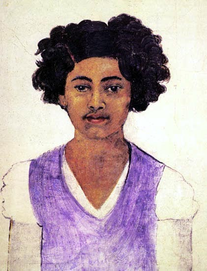 Self-Portrait , por Frida Kahlo (1907-1954, Mexico)