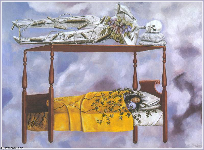 el sueno -The Sonho por Frida Kahlo (1907-1954, Mexico)