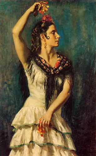 Castanuelas por Jorge Apperley (George Owen Wynne Apperley) (1884-1960, United Kingdom)