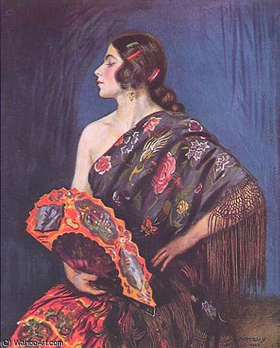 la maja por Jorge Apperley (George Owen Wynne Apperley) (1884-1960, United Kingdom) | ArtsDot.com