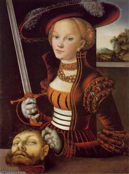 Judith vitorioso - -, 1530 por Lucas Cranach The Elder (1472-1553, Germany)