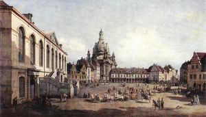 Bernardo Bellotto - Dresden - Praça do Novo M..