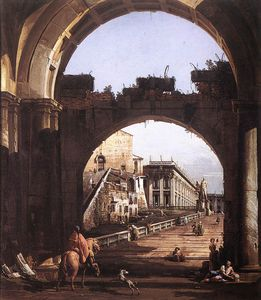 Bernardo Bellotto - Itália - Capriccio do Cap..