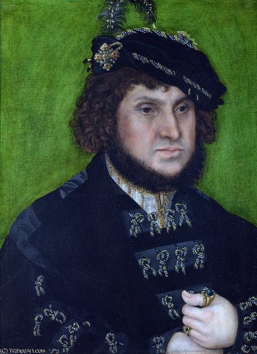 Retrato de Johann o Steadfast por Lucas Cranach The Elder (1472-1553, Germany)