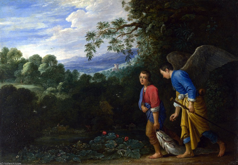 Tobias e Raphael do arcanjo por Adam Elsheimer (1578-1610, Germany)