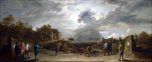 David The Younger Teniers - Camponeses no Archery