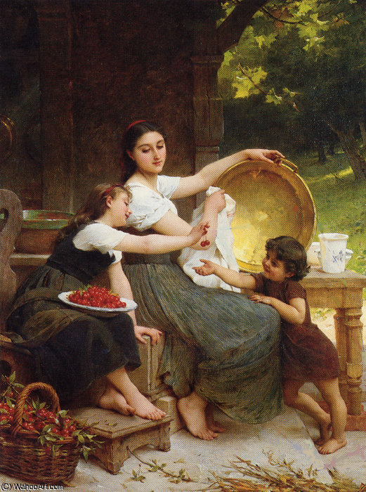 1 les confitures, 1891 por Emile Munier (1840-1895, France)