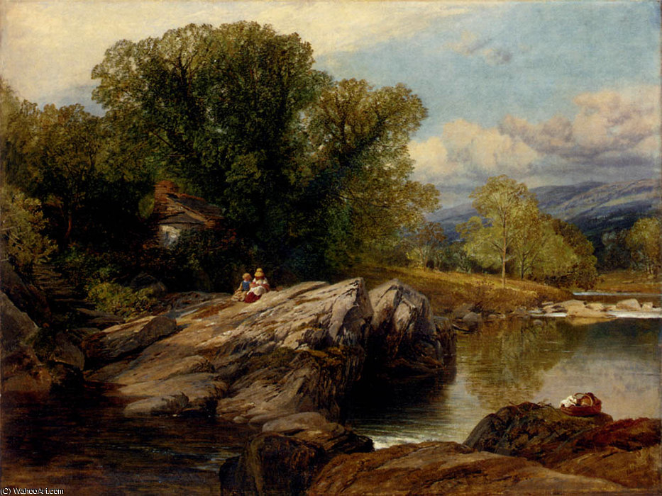 Bettws y Coed por Frederick William Hulme (1816-1884, United Kingdom)