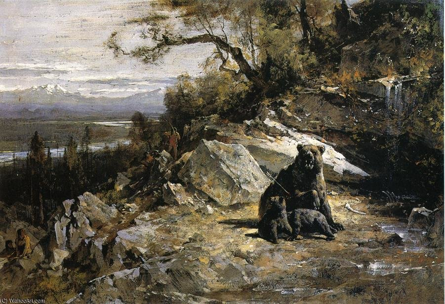 Squaw Valley perto Agora wa ow aka Old Grizzly-s Den Invadido por Thomas Hill (1829-1908, United Kingdom)