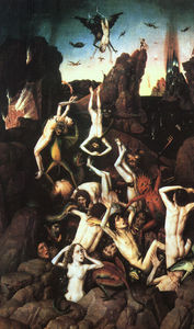 Dieric Bouts - The Fall of the Damned, óleo s..