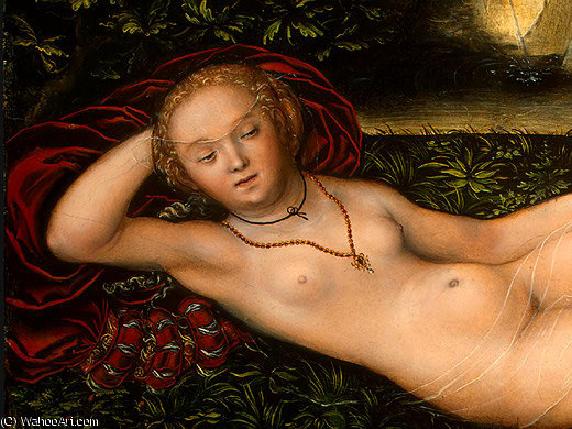 a ninfa do Salte , após detalj - ( 1 , ), 1537 por Lucas Cranach The Elder (1472-1553, Germany)