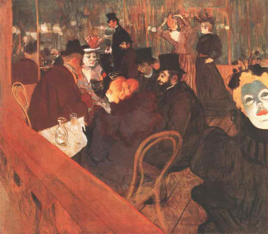 No Moulin Rouge, Ar, 1892 por Henri De Toulouse Lautrec (1864-1901, France)