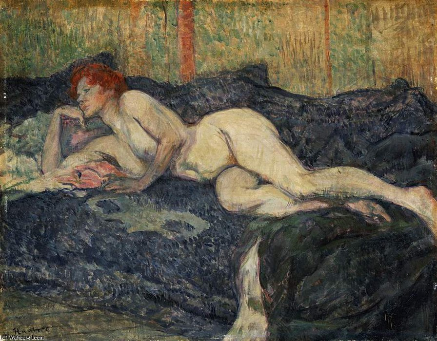Nu reclinado, Barnes Foundation, 1897 por Henri De Toulouse Lautrec (1864-1901, France)