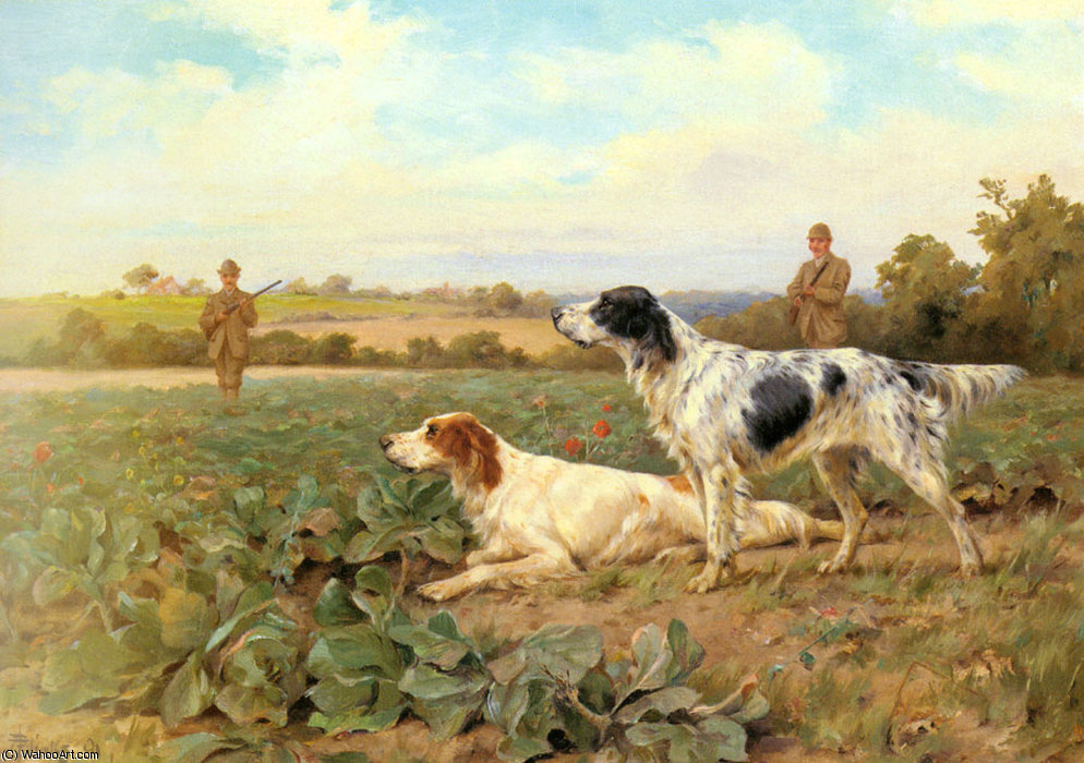 No campo, rematando por Thomas Blinks (1860-1912, United Kingdom)