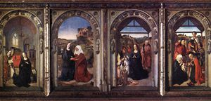 Dieric Bouts - Triptych do Virgiin