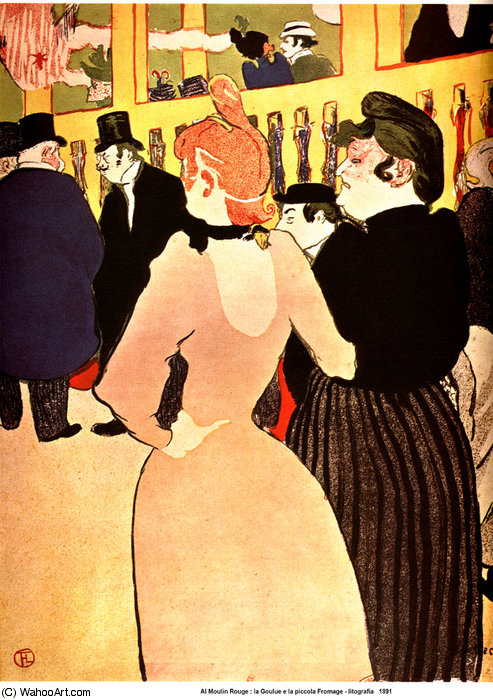 No Moulin - Rouge, La Goulue com a irmã por Henri De Toulouse Lautrec (1864-1901, France)