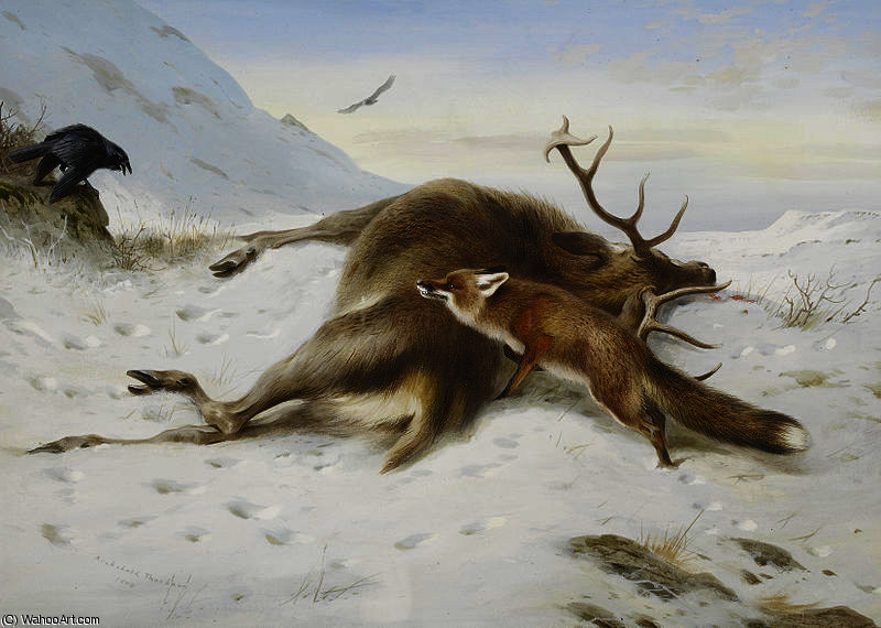 Não para a despensa por Archibald Thorburn (1860-1935, United Kingdom)