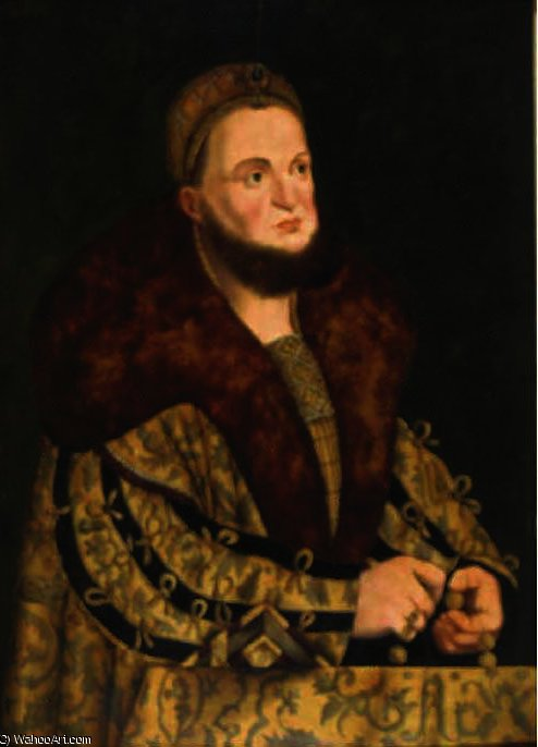 Retrato do eleitor Frederick III sábios da Saxónia por Lucas Cranach The Elder (1472-1553, Germany)