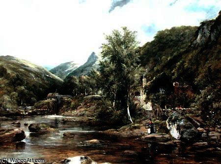 Pandy Mill, Bettys-y-Coed por Frederick Waters (William) Watts (1800-1870, United Kingdom)