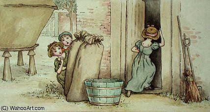 Esconde-esconde por Kate Greenaway (1846-1901, United Kingdom)
