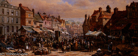 Dia de mercado, ashbourne por Louise Rayner (1832-1924, United Kingdom)