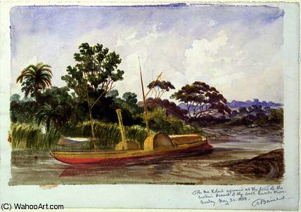 O Ma Robert , o barco de Livingstone por Thomas Baines (1820-1875, United Kingdom)