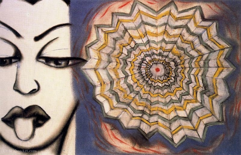 Untitled (463) por Francesco Clemente