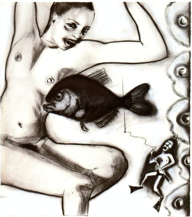 Untitled (988) por Francesco Clemente