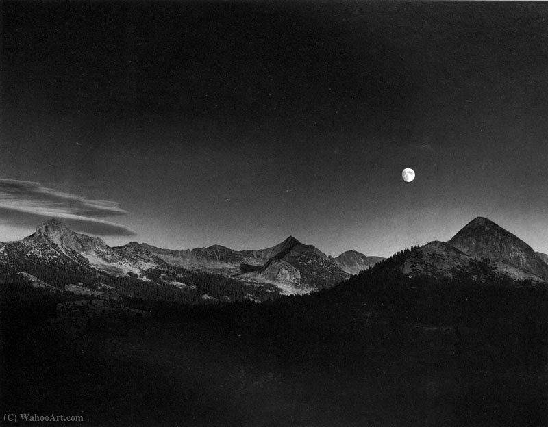 Lua do outono por Ansel Adams (1902-1984, United States)
