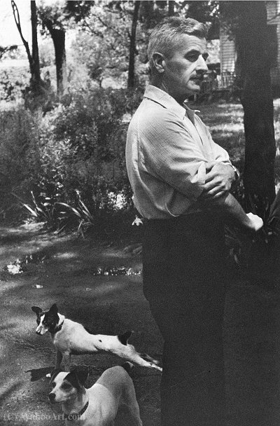 William Faulkner 1947 por Henri Cartier-Bresson (1908-2004, France)