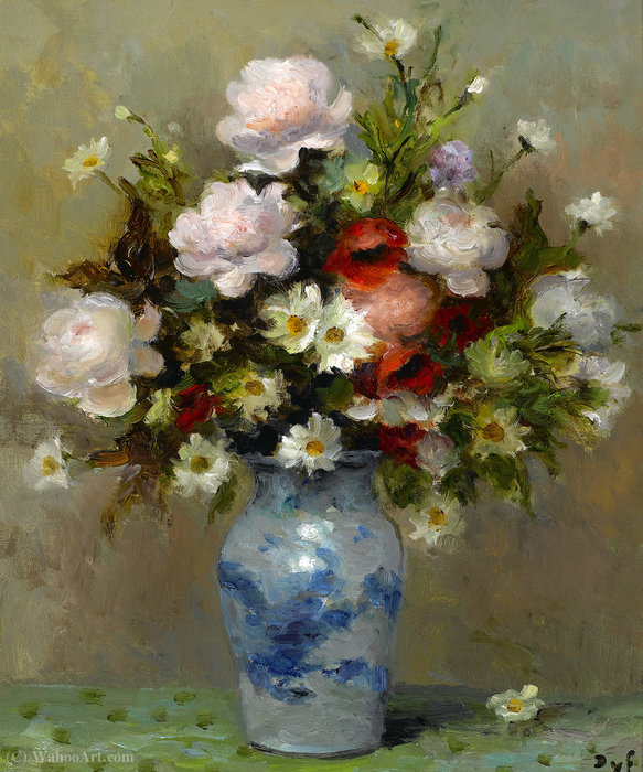 Peônias e papavers por Marcel Dyf (1899-1985, France)