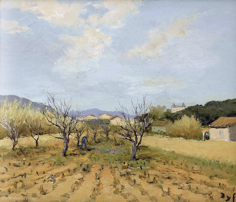 Terres Rouges em Vineyard por Marcel Dyf (1899-1985, France)