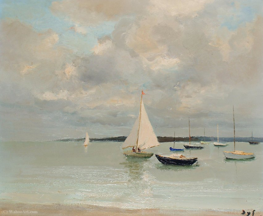 Branco sailer por Marcel Dyf (1899-1985, France)