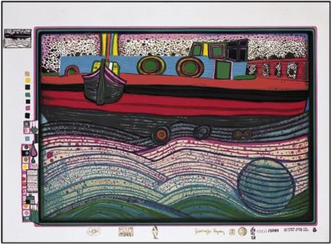 A Regentag on Waves of Love por Friedensreich Hundertwasser