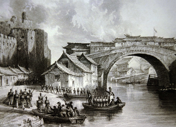 West Gate de Ching por Thomas Allom (1804-1872, United Kingdom)