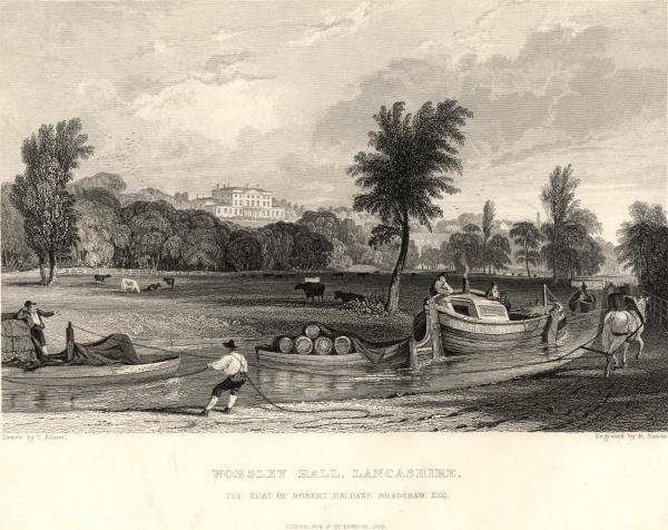 Worsley salão Lancashire por Thomas Allom (1804-1872, United Kingdom)