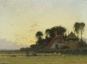 Cornelis Kuypers - Agricultores no campo