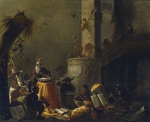 Cornelis Saftleven (Cornelis Zachtleven) - College of Animals