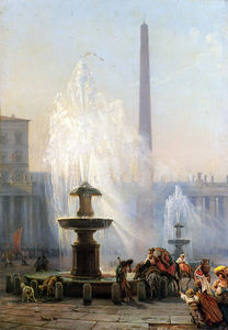 Friedrich Nerly - Piazza San Pietro, Roma