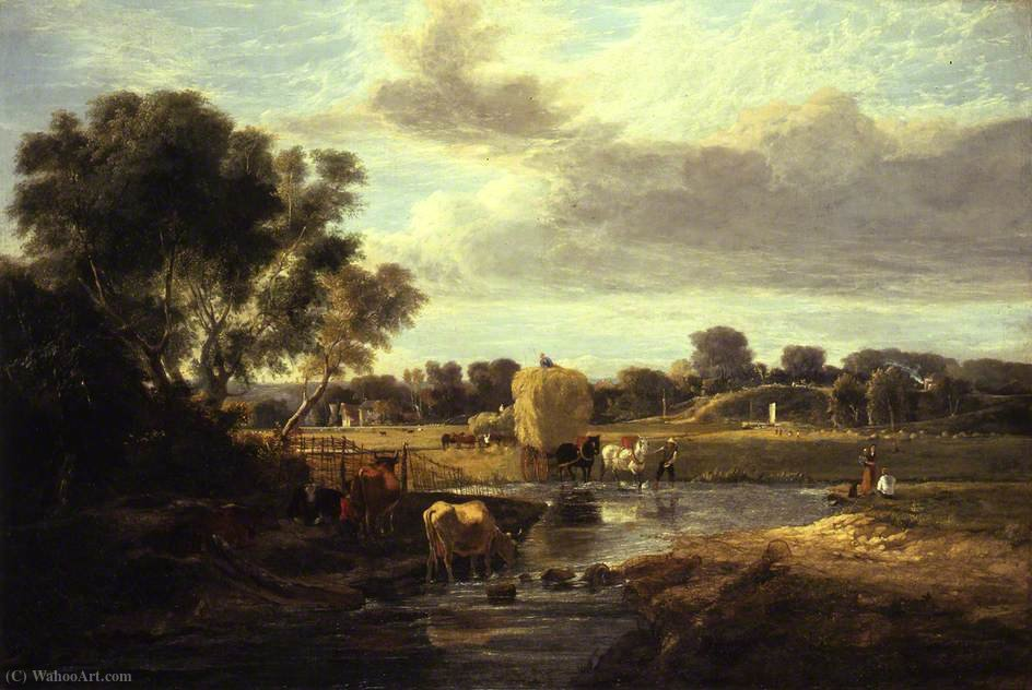 Trowse Meadows, perto de Norwich por George Vincent (1796-1831, United Kingdom)
