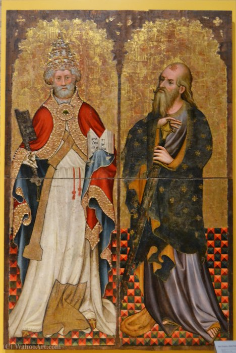 St. Peter e Paul por Joan Mates (1370-1431, Spain)
