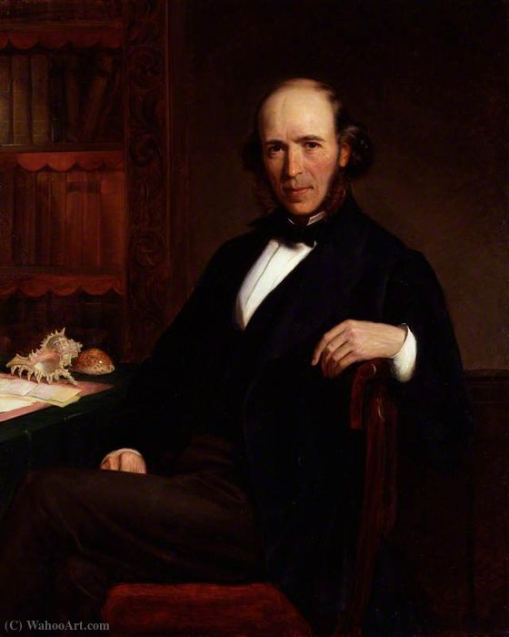 Herbert Spencer por John Bagnold Burgess (1829-1897, United Kingdom)