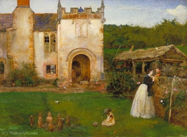 A pista de bowling old por John William North (1842-1924, United Kingdom)