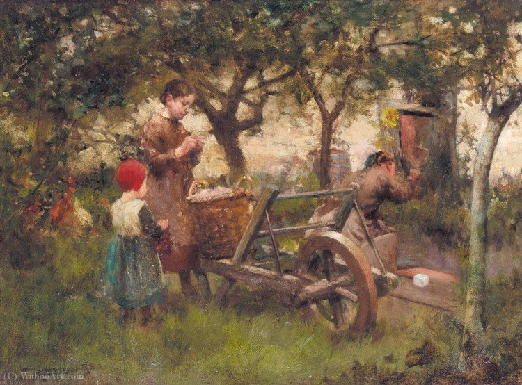 No pomar por Robert Mcgregor (1847-1922, United Kingdom)