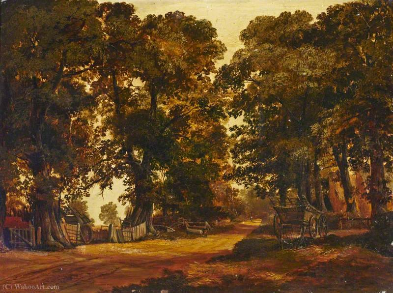 Cena Rural em Heston por Thomas Colman Dibdin (1810-1893, United Kingdom) | ArtsDot.com