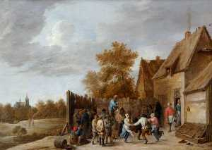 David The Younger Teniers - camponeses dança