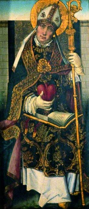 st ambrose ( verso ), 1470 por Master Of The View Of Saint Gudule | Copy Pintura | ArtsDot.com