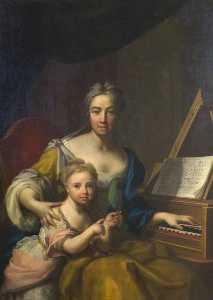Francesco Trevisani - Frances , Esposa de john , 6th Conde de mar , Filha de evelyn , 1st Duque de Kingston